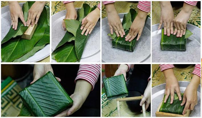 Cách gói và luộc bánh Chưng thơm ngon