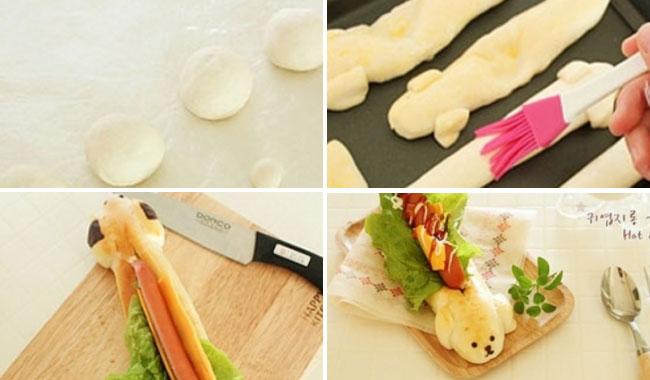 Hướng dẫn cách làm bánh Hot Dog phô mai hình cún yêu ngộ nghĩnh