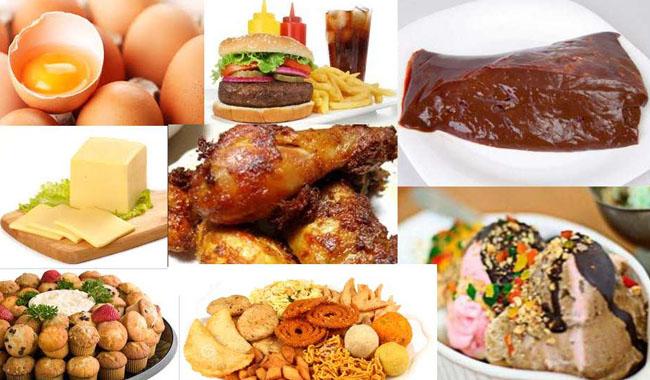 Kết quả hình ảnh cho hạn chế ăn nhiều cholesterol