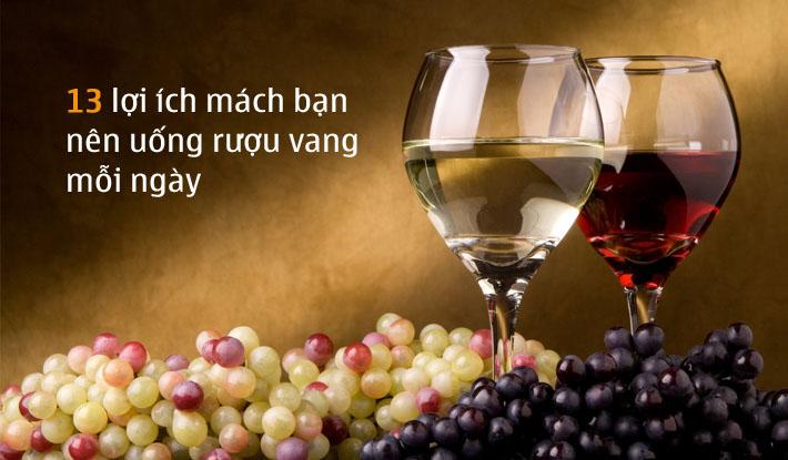 13 lý do mách bạn nên uống một ly rượu vang mỗi ngày