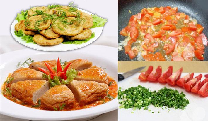 Cách làm món chả cá thu sốt cà chua ngon đúng điệu