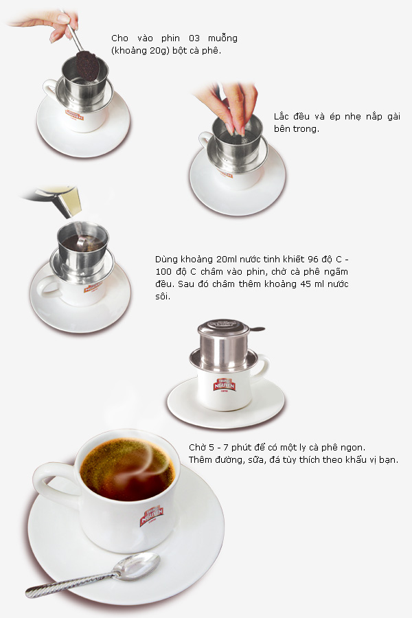 Pha cà phê ngon với 5 bước đơn giản